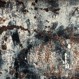 Rusty old scratched metal textured background Stock Images