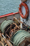 Rusty old sea winches Stock Photos