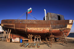 Rusty old ship. Stock Photography