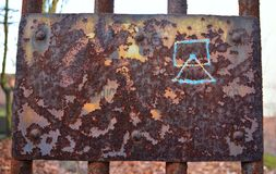 Rusty old sign Stock Image