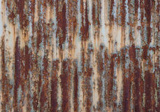 The rusty old tin plate as background Stock Images