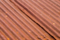 Rusty old tin roof texture background. Texture Stock Image