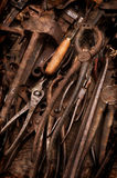 Rusty Old Tools. Vintage effect Royalty Free Stock Photography