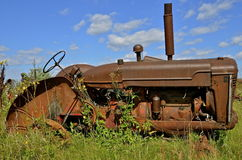 Rusty old tractor Stock Image