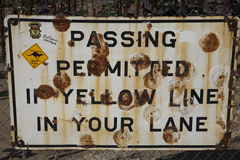 Rusty Old Traffic Sign Royalty Free Stock Photos