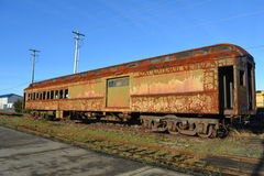 Rusty old train carriage Stock Photo