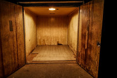 Rusty old transport elevator Stock Images