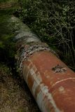 Rusty old turbine pipes Royalty Free Stock Photography