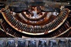 Rusty old typewriter retro, printing machine Stock Photo