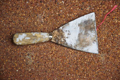 Rusty old used metal shovel Royalty Free Stock Photography