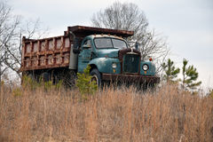 Rusty Old Vintage Dump Truck Stock Photos