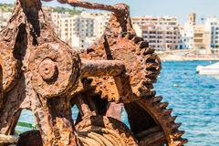 Rusty Old Winch Stock Images