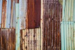 Rusty old zinc texture Royalty Free Stock Photo