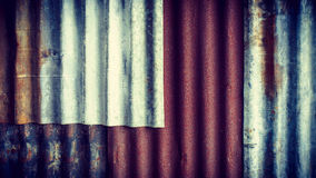 Rusty old zinc texture background Royalty Free Stock Photography