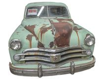 rusty oldtimer with white backround royalty free stock photography