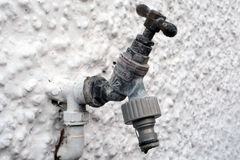 Rusty outdoor tap Royalty Free Stock Image