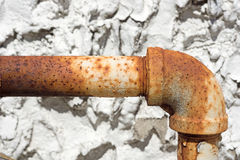Rusty outside gas pipe Royalty Free Stock Images