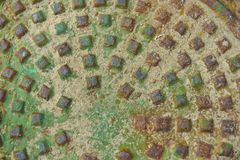 Rusty and Oxidized Man Hole Cover Royalty Free Stock Photo
