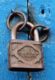 Rusty padlock Stock Photo