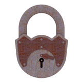 Rusty padlock Royalty Free Stock Photo