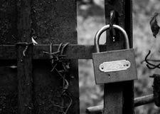 Rusty padlock Stock Images