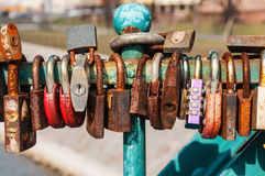 Rusty padlocks Stock Photography