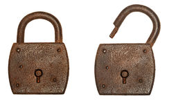 Rusty padlocks Stock Images