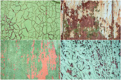 Rusty paint collection Royalty Free Stock Photo