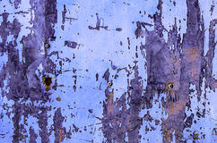 Rusty painted metal surface Stock Images
