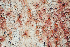 Rusty painted metal surface Royalty Free Stock Image