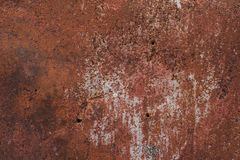 Rusty painted metal Royalty Free Stock Image