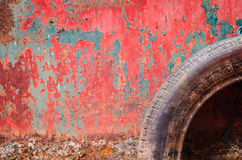 Rusty painted metal texture Royalty Free Stock Image