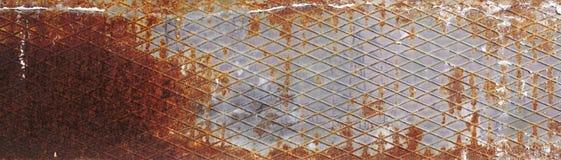 Rusty painted metallic background Stock Photos