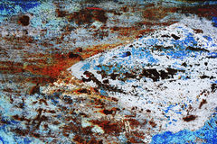 Rusty painted metallic background Royalty Free Stock Images