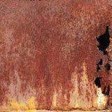 Rusty painted metallic background Stock Photography