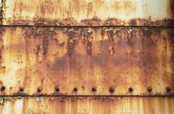 Rusty, Painted Steel Plates Stock Photography