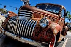 Rusty Patina Antique Chevy Chevrolet su esposizione nel Ft Lauderdale1946 Immagine Stock Libera da Diritti