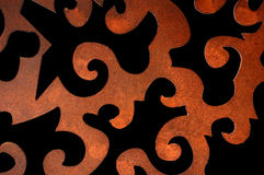 Rusty pattern. Rusty iron abstract decorative pattern. Vintage metalwork detail Stock Image