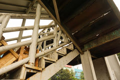 Rusty pedestrian bridge in indonesia. Java jakarta Stock Photography