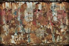 Rusty Peeling Paint Arkivfoto