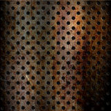Rusty perforated metal background Stock Photos
