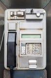 Rusty phone box. In Puerto de la Crus in Tenerife Spain stock image