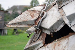 Rusty piece of metal. Stock Photography