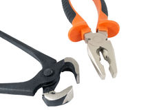 Rusty pincers and pliers Royalty Free Stock Photo