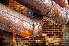 Rusty pipe Stock Images