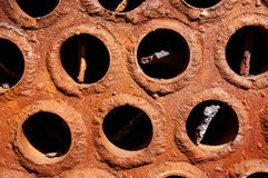 Rusty cauldron pipes . Abstract background. royalty free stock photos