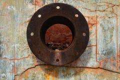 Rusty pipe on stone in Rodalquilar, Almeria royalty free stock photos