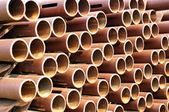 Rusty pipe texture. Bunch of  rusty pipe texture Royalty Free Stock Image