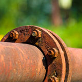 Rusty Pipeline Connection Royalty Free Stock Photos