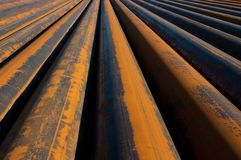 Rusty pipes. Waiting to be used Stock Photography